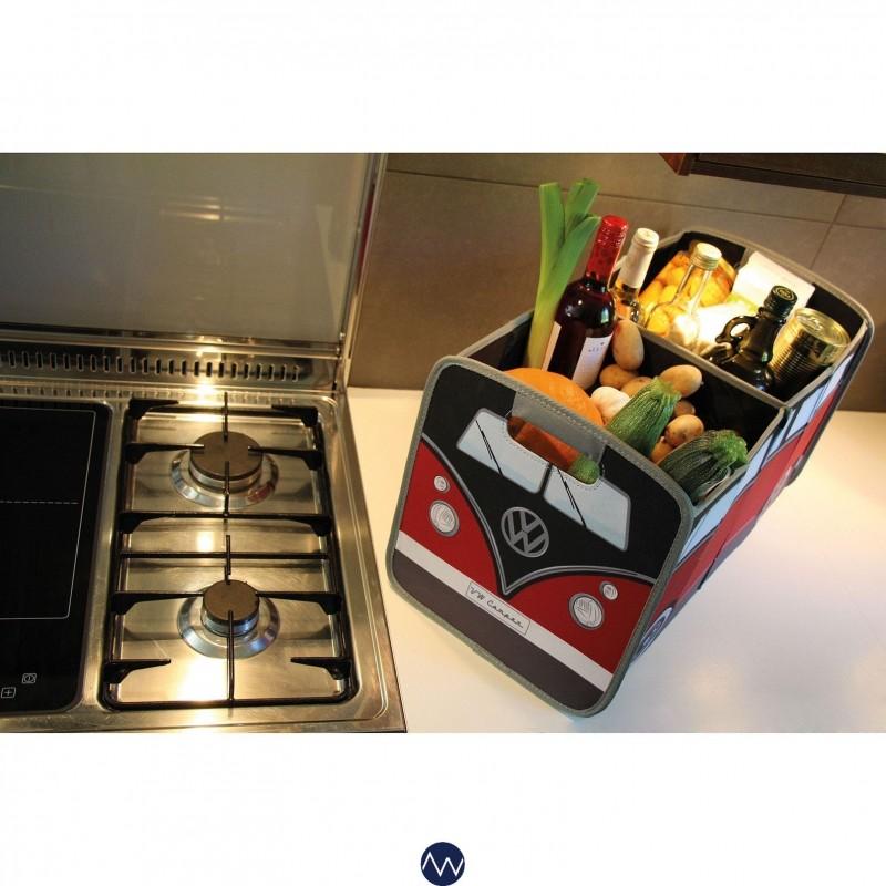 Boîte de rangement pliable VW Combi Split rouge/noir
